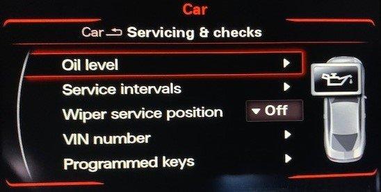 Dash display settings for oil life monitor