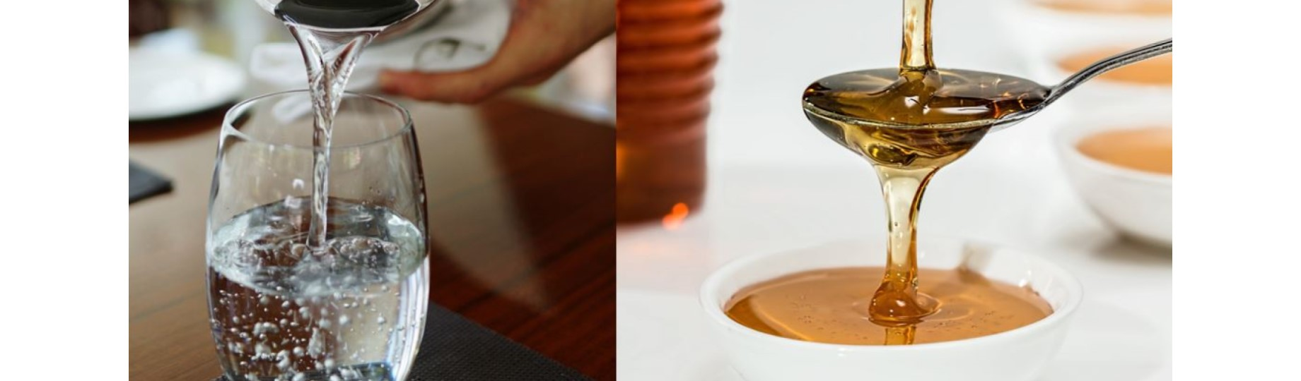 Water and Honey Viscosity examples